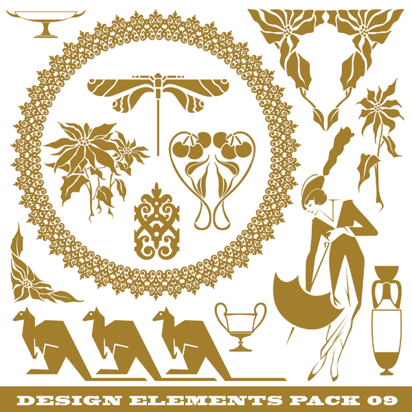 free vector Windmills kangaroos ducks and other silhouette pattern vector