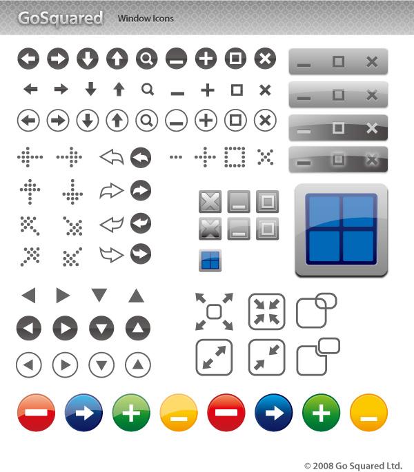 free vector Window icon button vector material