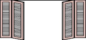 free vector Window Shutters clip art