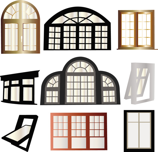Window vector free vector 4vector for Window design cartoon