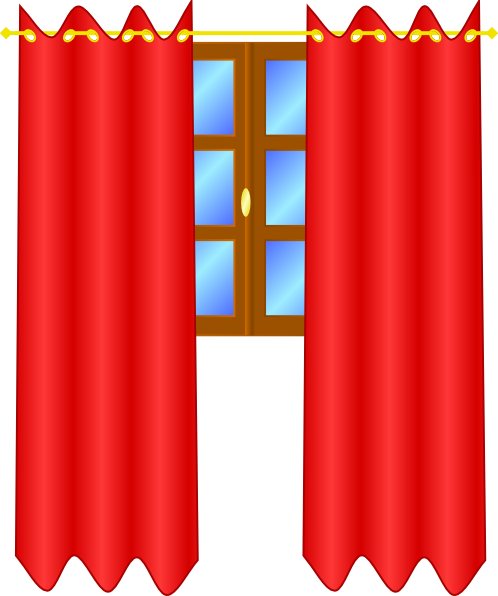 free vector Window With Draperies clip art
