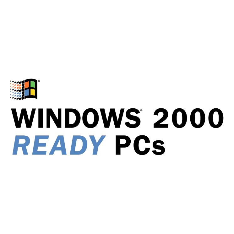 free vector Windows 2000 ready pcs