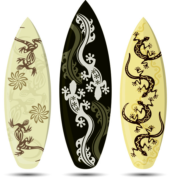 free vector Windsurfing board pattern vector