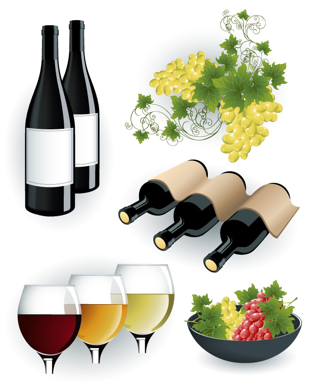 free vector Wine and beer vector