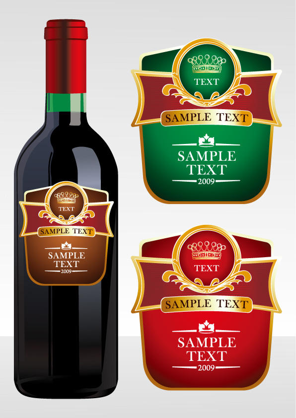 free vector Wine and beer vector