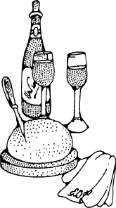 free vector Wine And Bread clip art