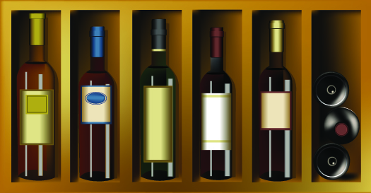 free vector Wine bottles bottles paste wine and vintage wine posters vector