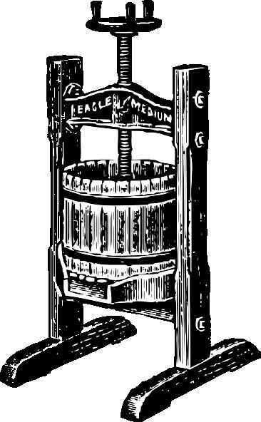 free vector Wine Press clip art
