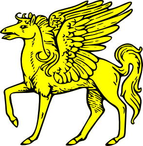 free vector Winged Horse clip art