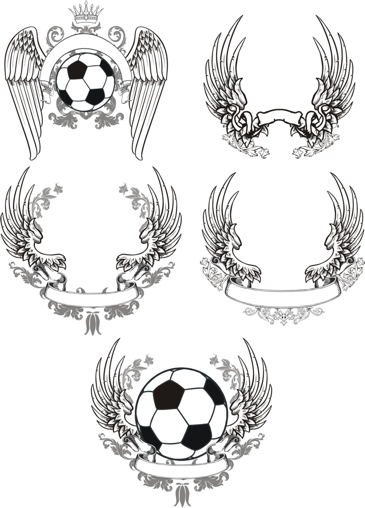 free vector Winged Scroll Design Pack