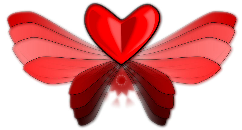 free vector WingLoveHeart