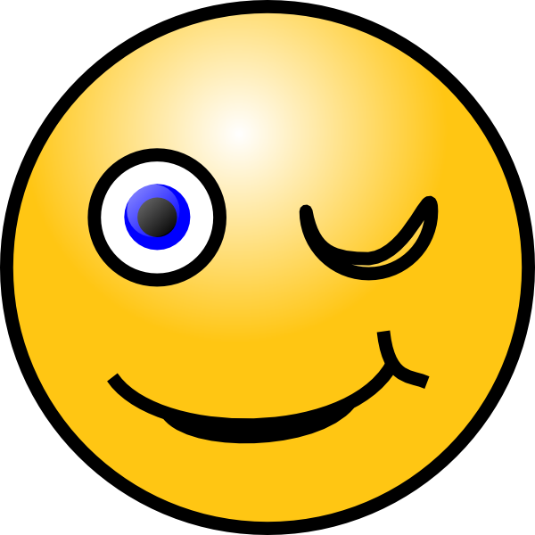 Wink emoticon wink smiley clip art free