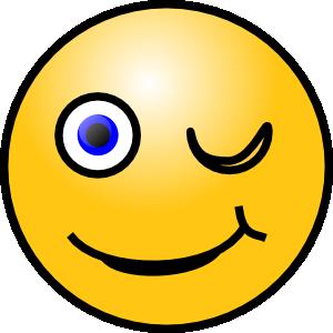 free vector Wink Smiley clip art