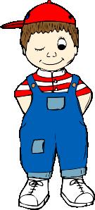 free vector Winking Boy clip art