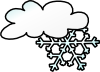 free vector Winter Cloud Snow Flake clip art