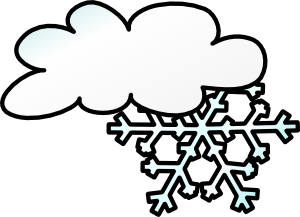 winter cloud snow flake clip art free vector 4vector rh 4vector com free clipart snowman snow blower clipart free