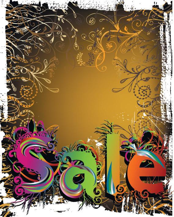 free vector Winter discount sales vector