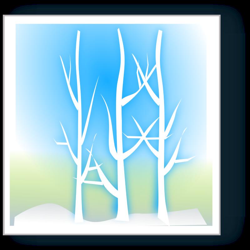 free vector Winter silhoutte