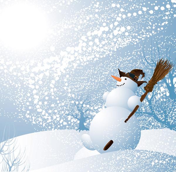 free vector Winter vector background