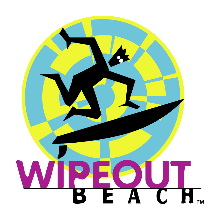 free vector Wipeout beach