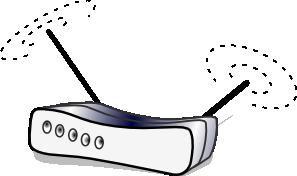 free vector Wireless Lan Router clip art