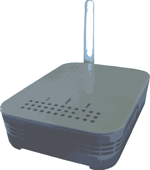 free vector Wireless Router clip art