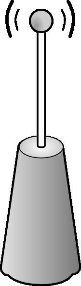 free vector Wireless Transmitter Antenna clip art