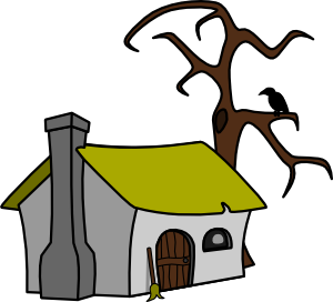 free vector Witch Cottage clip art