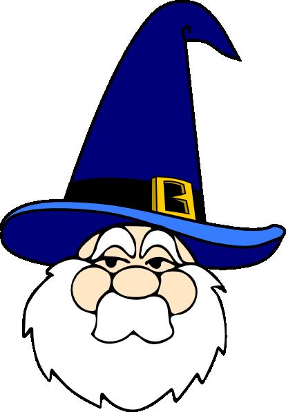Wizard In Blue Hat clip art Free Vector / 4Vector