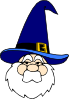 free vector Wizard In Blue Hat clip art