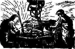 free vector Wokers Using The Welding Machine clip art
