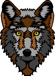 free vector Wolf Head Stylized clip art