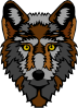 free vector Wolf Head Stylized clip art