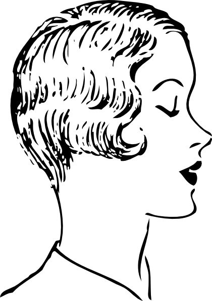 Getting a Haircut Clip Art Woman Fashion Haircut Clip Art