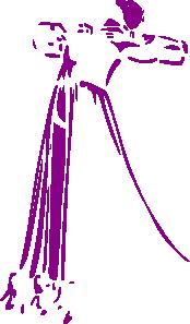 free vector Woman Lineart Dancing clip art