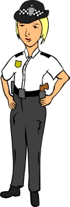 free vector Woman Police Officer clip art