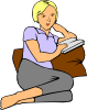 free vector Woman Reading clip art