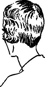 free vector Woman S Bob Haircut Rear clip art