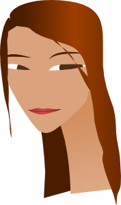 free vector Woman S Face With Long Neck clip art