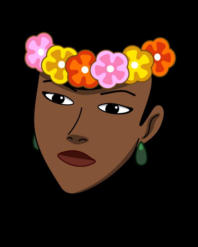 free vector Woman wearing hawaiian lei