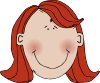 free vector Womans Face With Red Hair clip art