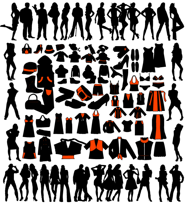 free vector Women and women clothes vector