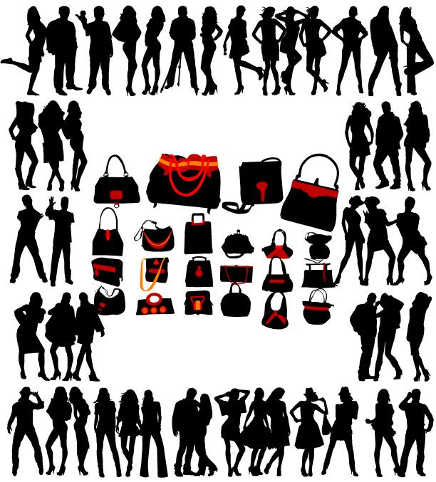 women and women clothes vector free vector 4vector