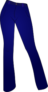 free vector Women Clothing Blue Jeans clip art