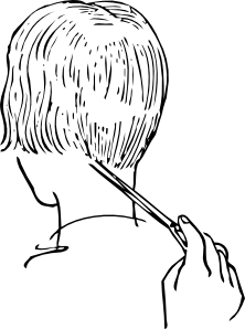 free vector Women Haircutting clip art