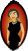 free vector Women Portrait In Red clip art