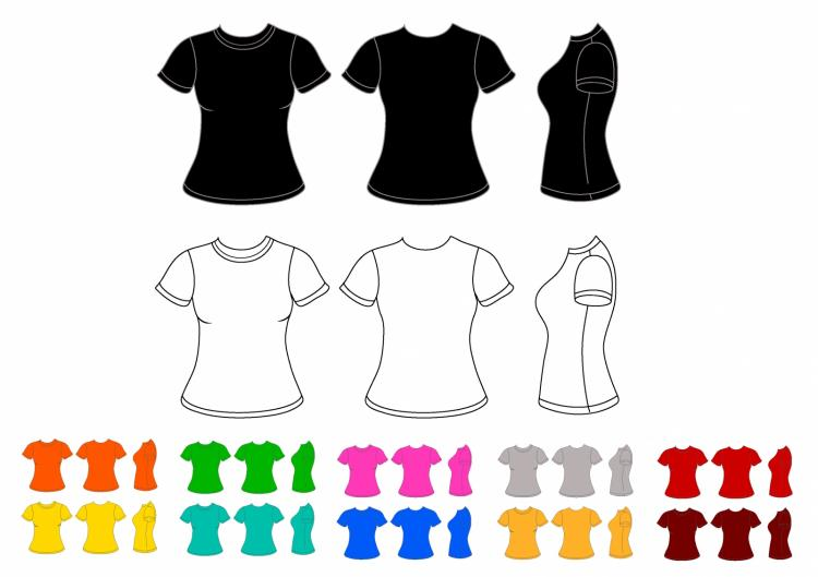 Vector men s polo shirt design template front view polo shirt with - Women T Shirt Free Vector 4vector