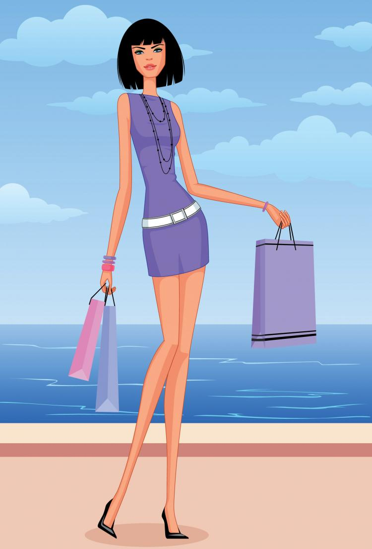 Women Vector Fashion Shopping Free Vector / 4Vector