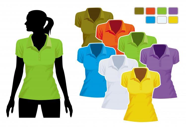 free vector Women39s tshirt template 01 vector