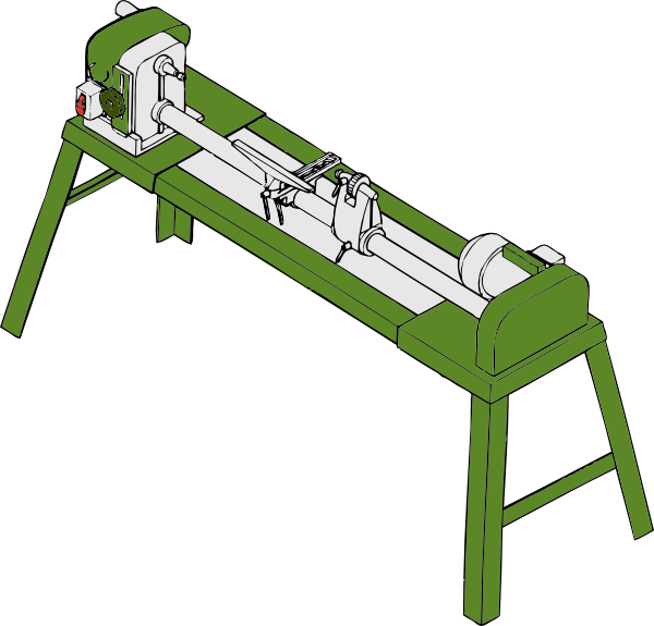Wood Lathe Workshop Tools Clip Art 115941 Free Svg